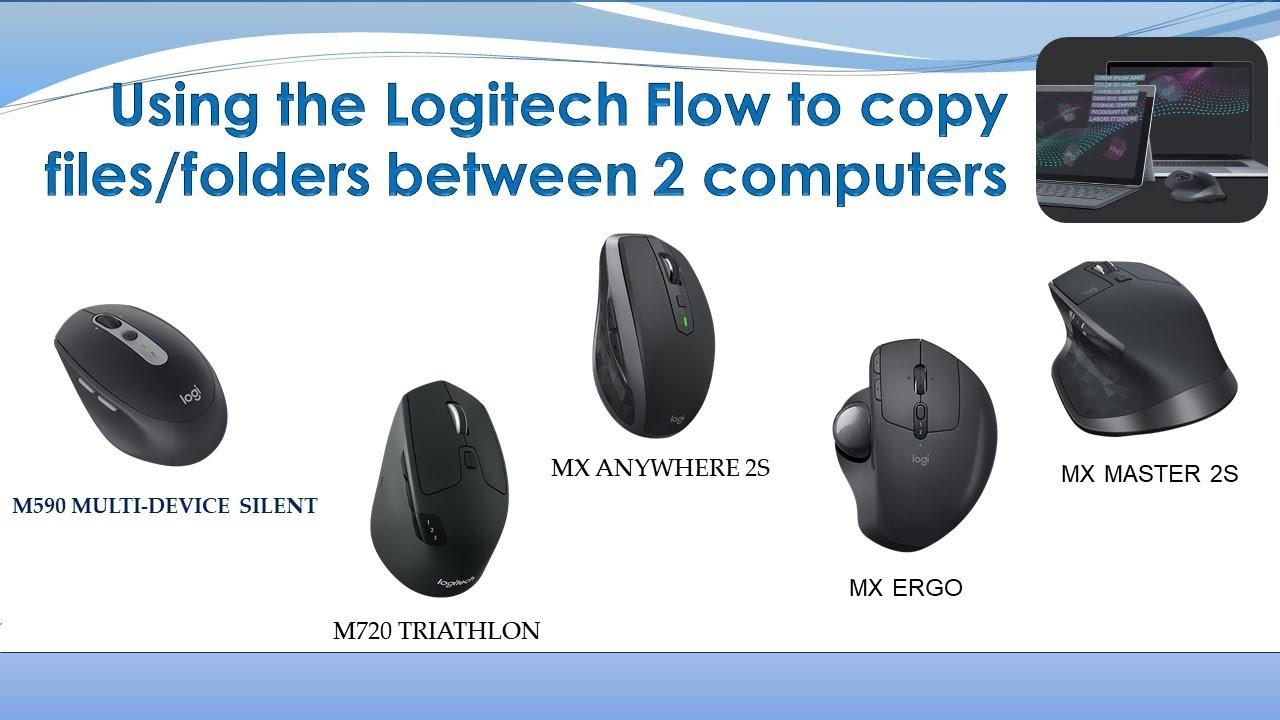 Logitech Flow : Copy files folders between 2 computers