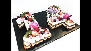 Торт цифра / Торт на 14 февраля / Медовик