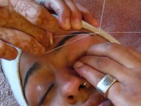 Eyebrow Threading - Salon way! || Raji Osahn