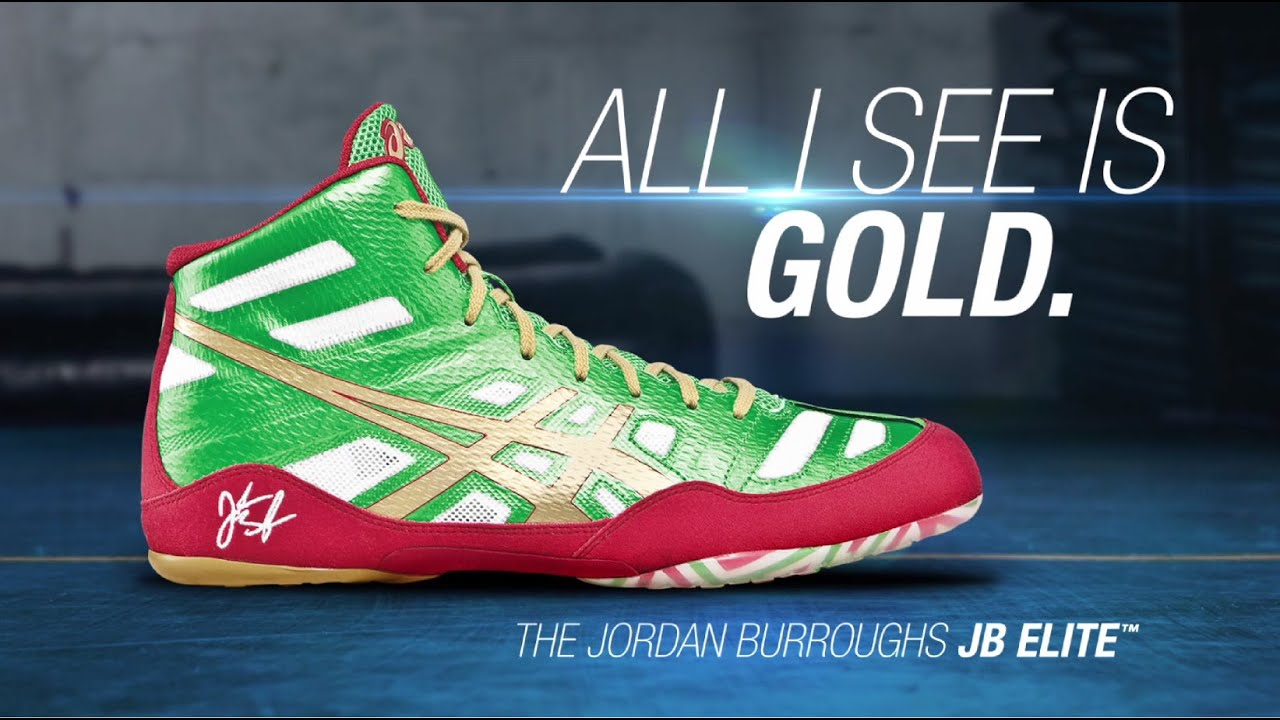 1580e7c898d Jordan Burroughs Signature Wrestling Shoe  the ASICS JB Elite - YouTube
