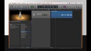 Aufnahmen von Audiospuren in Garageband für Anfänger