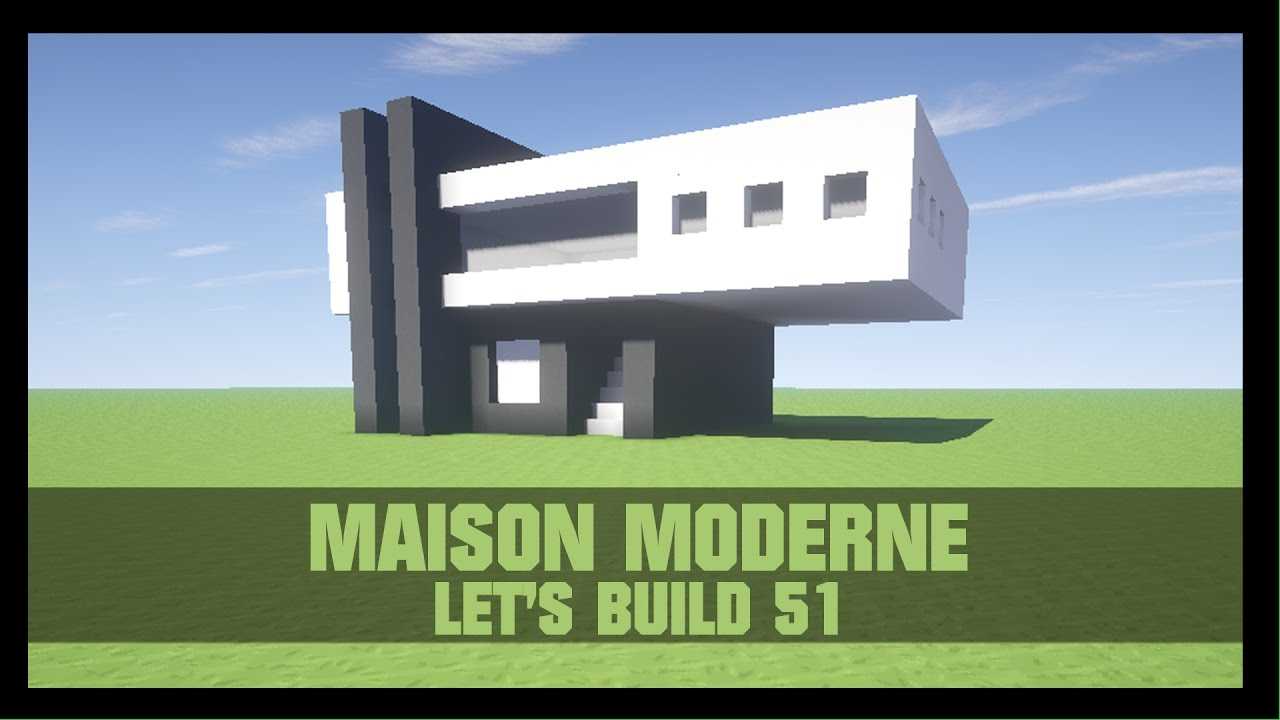 tuto comment construire une maison moderne dans minecraft youtube. Black Bedroom Furniture Sets. Home Design Ideas