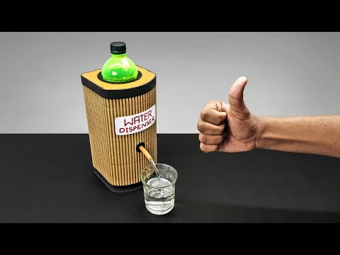 DIY Simple Water Dispenser Machine From Cardboard DIY At Home
