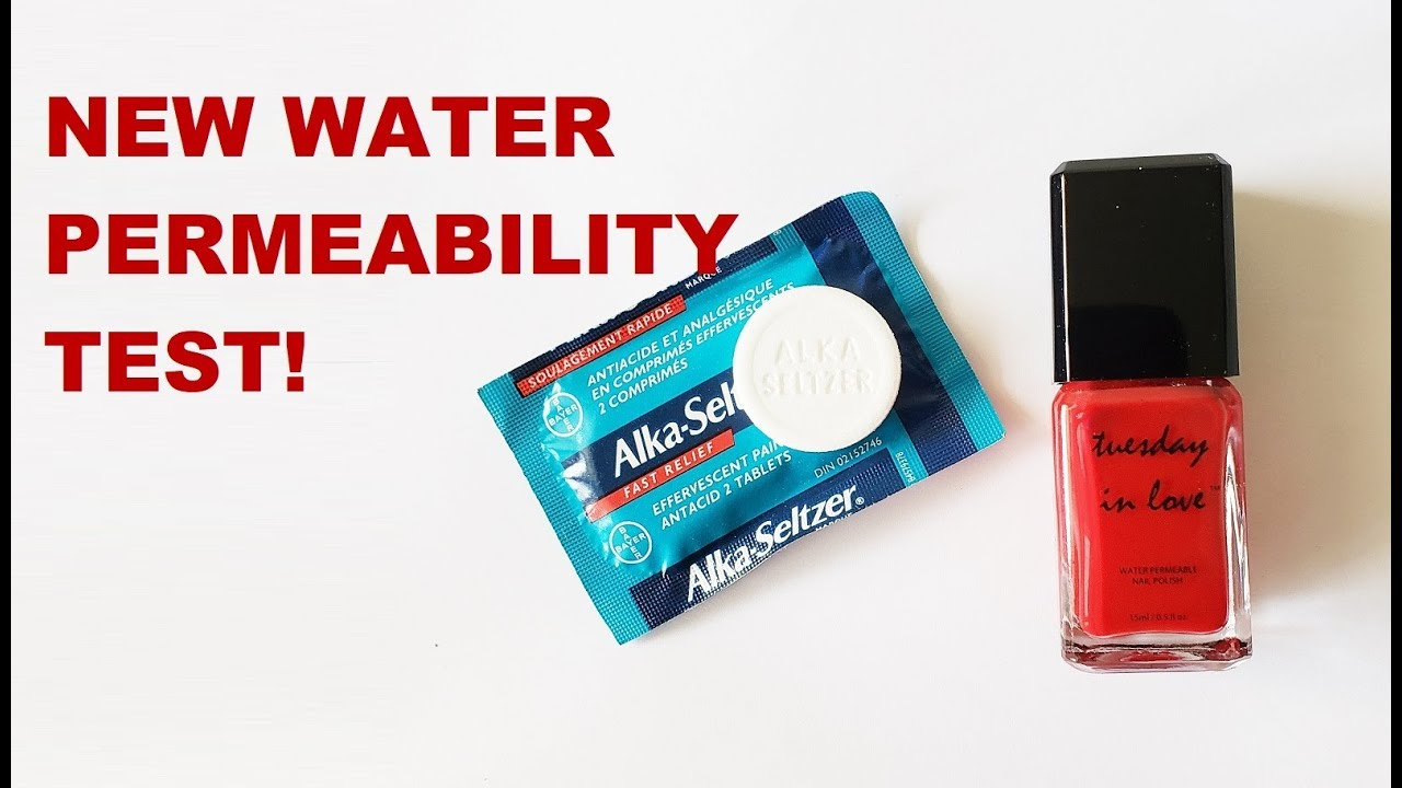 Tuesday In Love Halal Nail Polish New Water Permeability Test With Alka Seltzer Youtube