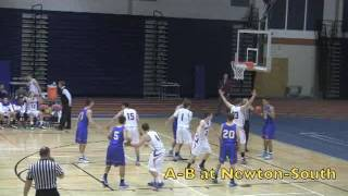 Acton Boxborough Varsity Boys Basketball @ Newton South 1/7/14
