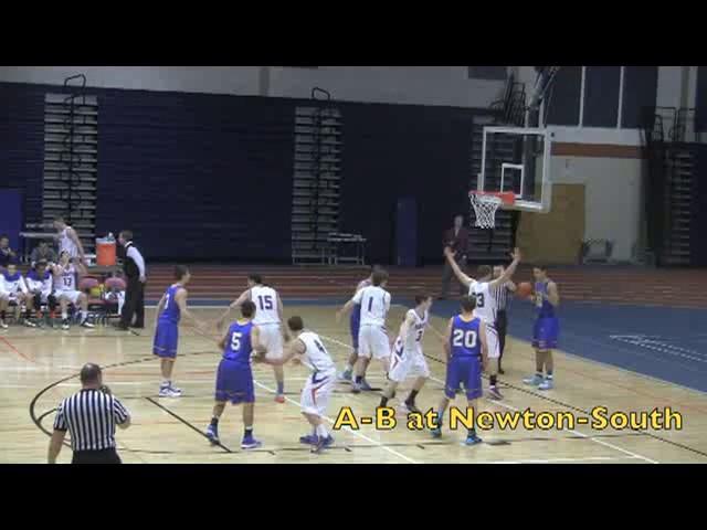Acton Boxborough Varsity Boys Basketball @ Newton South 1/7/14