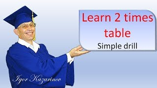 Learn 2 times table with a teacher  Video training drill 2