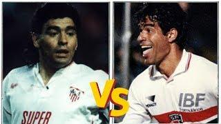 MARADONA VS RAÍ (1993) - Sevilla x São Paulo // Duel in MORUMBI