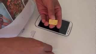 видео Samsung Galaxy S3 microSIM / SIM Karte