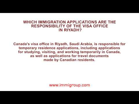 Which immigration applications are the responsibility of the visa office in Riyadh?