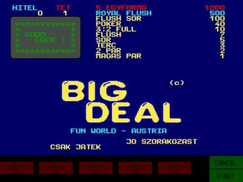 Big Deal (Fun World 1986)  Attract Mode 60fps