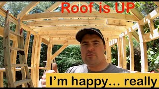 Maximizing Tiny House Loft Size. Framing The Tiny House Roof.