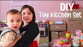 We Made A DIY Toy Kitchen Set Out Of Recycled Materials