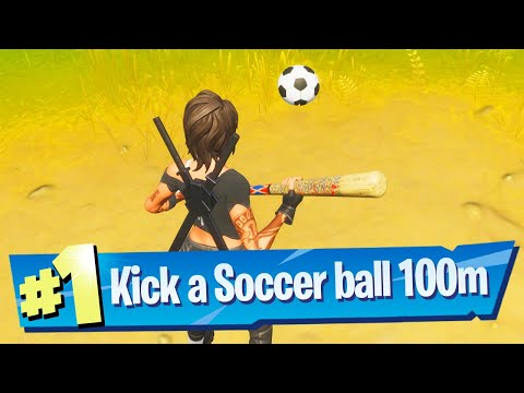 Kick A Soccer Ball 100 Meters Location - Fortnite Battle Royale