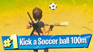 Kick a soccer ball 100 meters Location - Fortnite Battle Royale