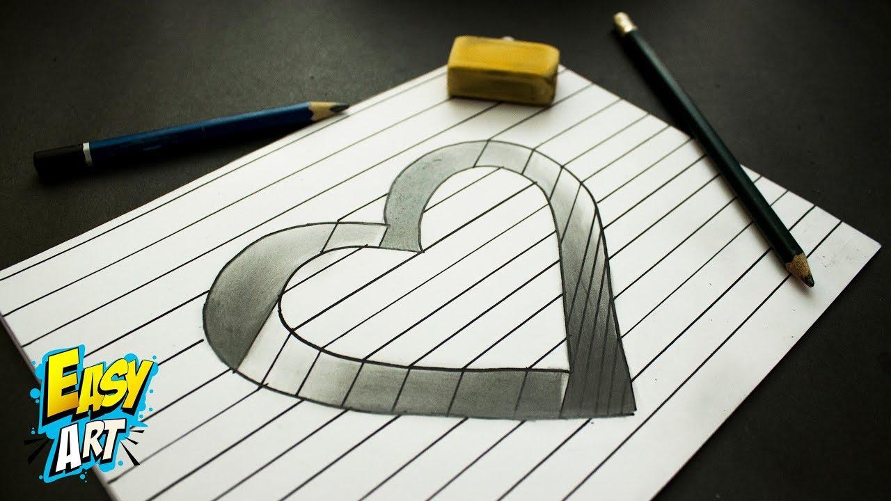 Ideas como dibujar un corazon en 3d love trick 3d for Dibujar un mueble en 3d