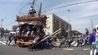 上宿 源義経 佐原の大祭ユネスコ登録記念イベント前の町内での曳き廻し ...