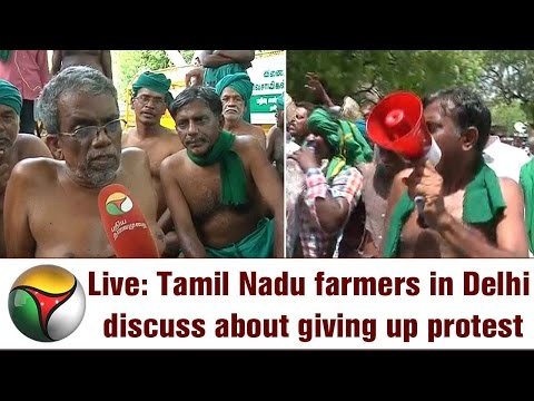 Live: Tamil Nadu farmers in Delhi discuss about giving up protest