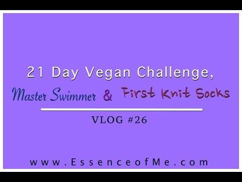 21 Day Vegan Challenge, Master Swimmer & First Knit Socks | VLOG #26