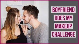 Boyfriend Does My Makeup Challenge