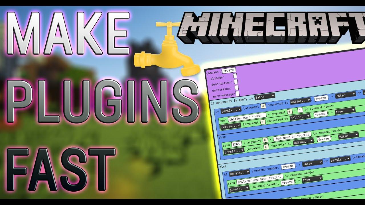 Download Minecraft Plugin Coding FAST & EASY | Visual Bukkit