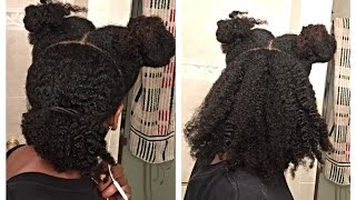 Nigerian 4C Natural Hair Update (twisting, texture, length check)