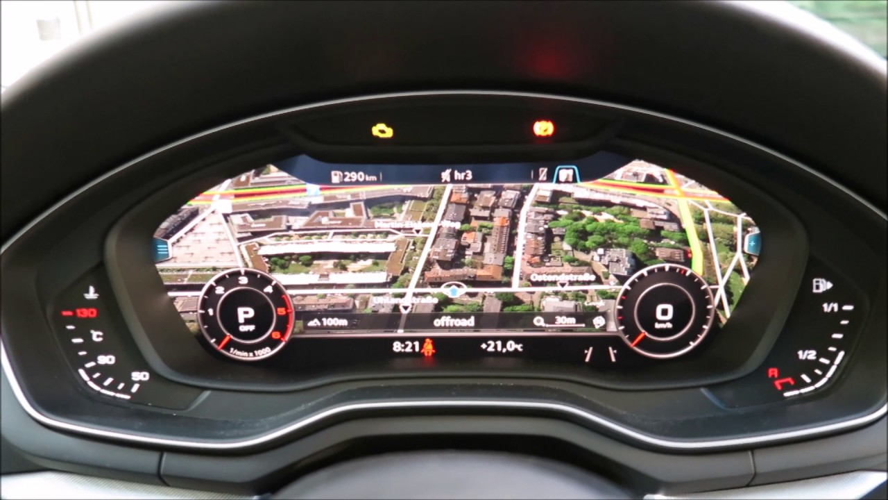 Audi A4 Virtual Cockpit Bedienung 2017 Youtube