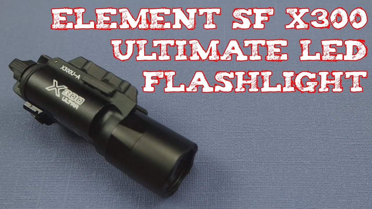 review element sf x ultimate led flashlight