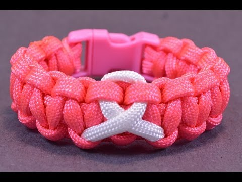 How to Make an Awareness Paracord Bracelet with Buckle - BoredParacord