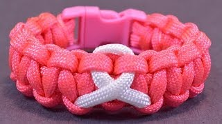 How Make Awareness Paracord Celet Buckle