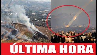 ÚLTIMA HORA! CONMOCIÓN EN ISRAEL TRAS INESPERADO ATAQUE DEL LIBANO CON COHETES HOY! ARTILLERÍA AHORA