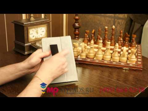 Чехол-обложка для Huawei Mediapad 7 Vogue черный кожаный