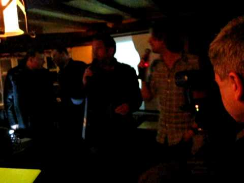 Chris Moyles sings karaoke with Ricky Wilson
