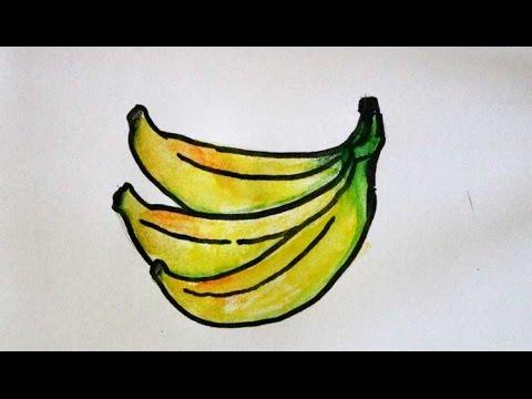 cara menggambar buah pisang  YouTube
