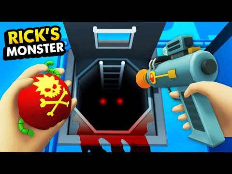 CAN WE DESTROY RICKS'S SECRET BASEMENT MONSTER? (Rick And Morty: Virtual Rick-Ality Gameplay)