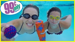 Testing 99 Cent Store Pool Toys!!!