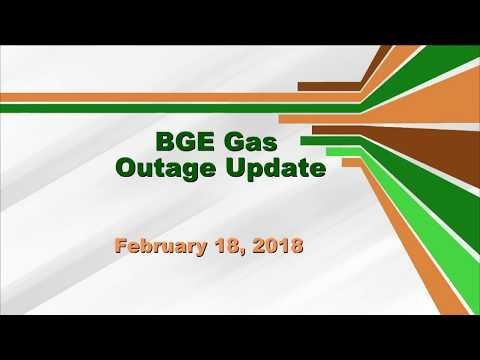 BGE Gas Outage Update - February 12, 2018