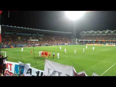 Bramka Roberta Lewandowskiego w meczu Czarnogóra-Polska 26.03.2017 Podgorica