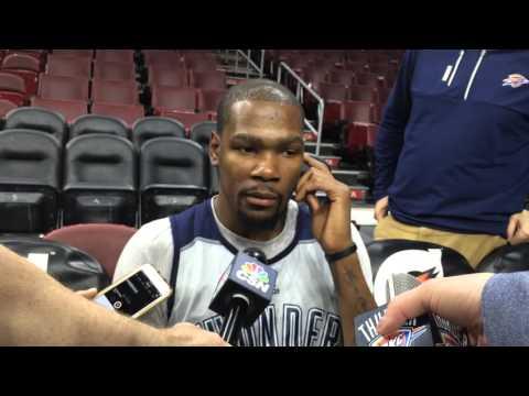 Durant: Shootaround in Philadelphia - March 18, 2016