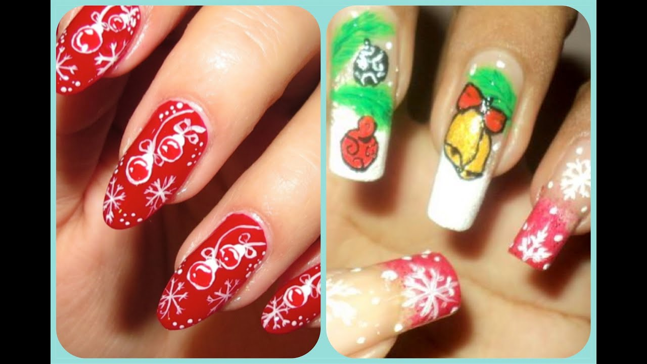 Christmas nail art design collab with beyonceesha youtube prinsesfo Choice Image