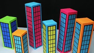Paper Building & City making for school project work- Easy Craft