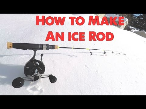 How To Make An Ice Fishing / Jig Rod. Complete Tutorial.