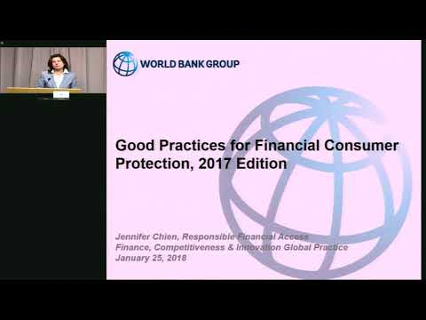 Launch of 2017 Good Practices for Financial Consumer Protection and Global FICP Survey