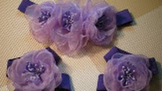 Цветок-повязка для волос и украшение на ножки для малышки своими руками. / DIY Flowers