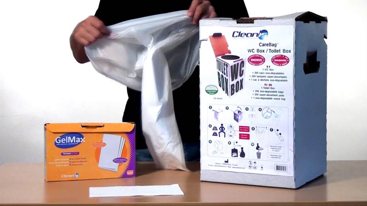 wc box bagno portatile riutilizzabile 200 volte