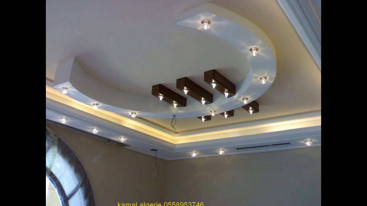 Decoration platre moderne 213558953746 youtube for Decoration platre plafond