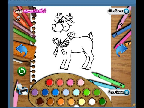 Christmas Reindeer Coloring Pages For Kids Christmas Reindeer