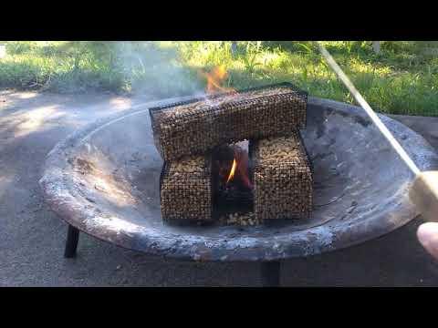 Wood pellets logs
