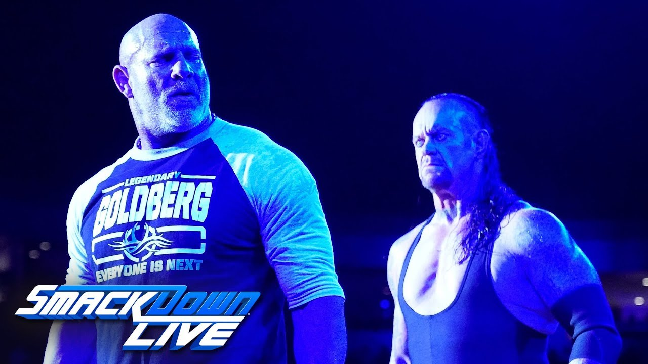 Download Goldberg and The Undertaker meet face-to-face: SmackDown LIVE: June 4, 2019