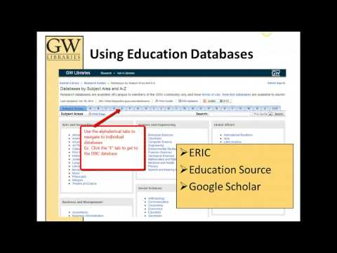 Finding Education Journal Articles